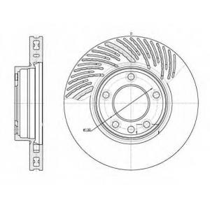 REMSA 6773.10 Диск тормозной VW TOUAREG передн. лев., вент. (пр-во REMSA)