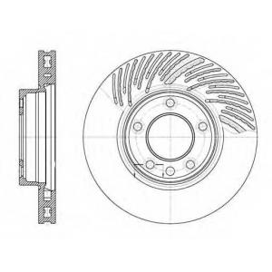 REMSA 6773.11 Диск тормозной VW TOUAREG передн. прав., вент. (пр-во REMSA)