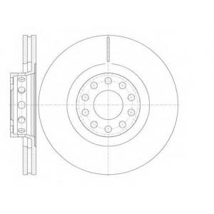 REMSA 6781.10 Диск тормозной AUDI A6, A8 передн., вент. (пр-во REMSA)