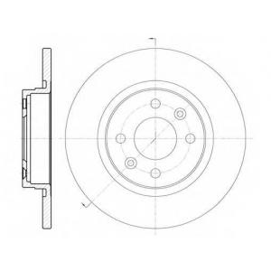 REMSA 6809.00 Диск тормозной DACIA LOGAN, SANDERO, передн. (пр-во REMSA)