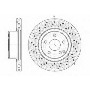 REMSA 6817.10 Диск тормозной MB S-CLASS передн., вент. (пр-во REMSA)