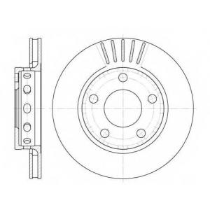 REMSA 6835.10 Диск тормозной AUDI A4 задн., вент. (пр-во REMSA)