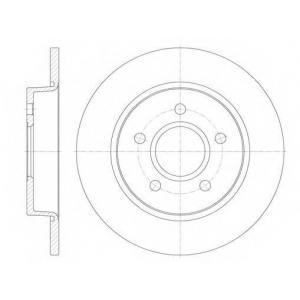 REMSA 6846.00 Диск тормозной FORD C-MAX, FOCUS задн. (пр-во REMSA)