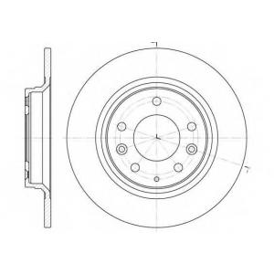 REMSA 6881.00 Диск тормозной MAZDA 323(BJ)/6/626(GW) 01.2001- задн. (пр-во REMSA)