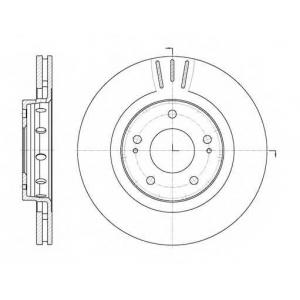 REMSA 6896.10 Диск тормозной MITSUBISHI OUTLANDER 2.0-2.4 03- передн. (пр-во REMSA)