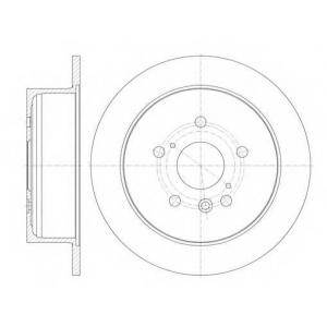 REMSA 6911.00 Диск тормозной LEXU RX 350 03- задн. (пр-во REMSA)
