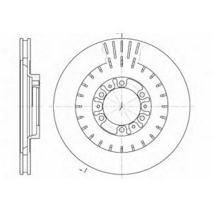 REMSA 6953.10 Диск тормозной PAJERO SPORT 02- передн. (пр-во REMSA)