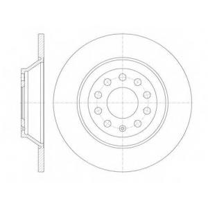REMSA 6969.00 Диск тормозной AUDI A6 2.0-4.2 -2011 задн. (пр-во REMSA)