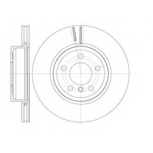 REMSA 6978.10 Диск тормозной BMW X3 03- передн. (пр-во REMSA)