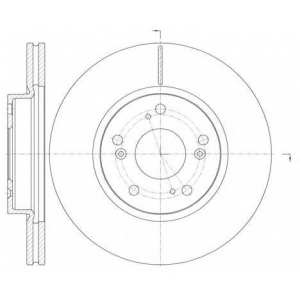 REMSA 6986.10 Диск тормозной HONDA CIVIC VII 1.4-2.2 06-, FV-R 1.7-2.0 05- передн. (пр-во REMSA)