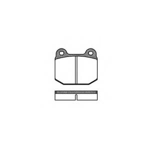 ROADHOUSE 201400 Колодки тормозные дисковые, к-кт.