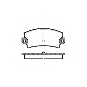 ROADHOUSE 2021.40 Комплект тормозных колодок, дисковый тормоз Лансия
