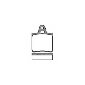 ROADHOUSE 2032.00 Комплект тормозных колодок, дисковый тормоз Ситроен Cx Брейк