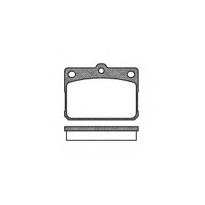 ROADHOUSE 2079.20 Комплект тормозных колодок, дисковый тормоз Дайхатсу