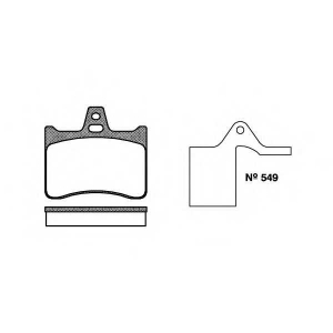 ROADHOUSE 2088.10 Комплект тормозных колодок, дисковый тормоз Ситроен Cx