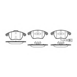 Комплект тормозных колодок, дисковый тормоз 2103001 roadhouse - AUDI A3 (8P1) Наклонная задняя часть 1.9 TDI