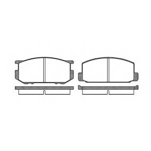 ROADHOUSE 2109.00 Комплект тормозных колодок, дисковый тормоз Дайхатсу