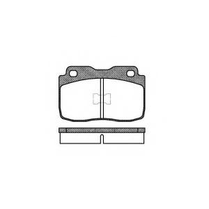 ROADHOUSE 2114.00 Комплект тормозных колодок, дисковый тормоз Фиат 147 Панорама