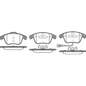 Комплект тормозных колодок, дисковый тормоз 2121921 roadhouse - SEAT ALHAMBRA (710) вэн 1.4 TSI