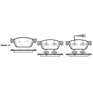 Комплект тормозных колодок, дисковый тормоз 2144001 roadhouse - VW TRANSPORTER V автобус (7HB, 7HJ, 7EB, 7EJ, 7EF) автобус 2.0 TDI
