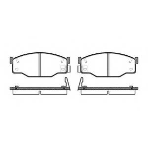 ROADHOUSE 2195.14 Комплект тормозных колодок, дисковый тормоз Исузу Импульс