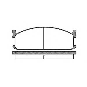 ROADHOUSE 2204.00 Комплект тормозных колодок, дисковый тормоз Исузу Мидиан