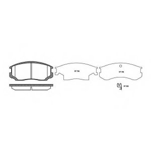ROADHOUSE 2357.22 Комплект тормозных колодок, дисковый тормоз Дайхатсу Астраи