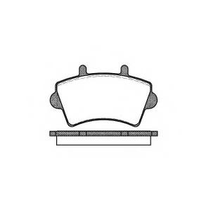 Комплект тормозных колодок, дисковый тормоз 281900 roadhouse - RENAULT MASTER II фургон (FD) фургон 2.5 D