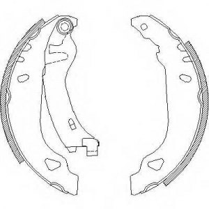 ROADHOUSE 4179.01 Колодки тормозные зад, Fiat Punto 94-