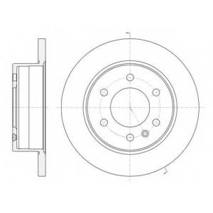 Тормозной диск 6103500 roadhouse - MERCEDES-BENZ SPRINTER 3,5-t автобус (906) автобус 319 CDI (906.731, 906.733, 906.735)