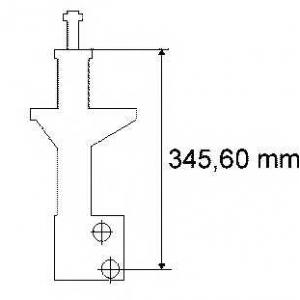 SACHS 170 160 Амортизатор VW Passat 88-97  (газ)