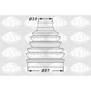 SASIC 1900005 Пыльник привода наружный C5 DW10/DW12/ES9J4 97x39