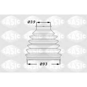 SASIC 1900015 Комплект пылника, приводной вал