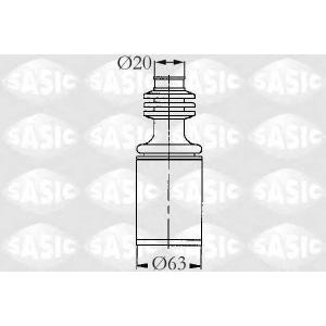 SASIC 2003421 Комплект пылника, приводной вал