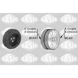 SASIC 2150028 Ременный шкив, коленчатый вал