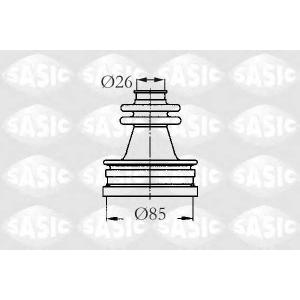 SASIC 2873723 Пыльник привода внутренний XM/605 ZPJ/XUD11 26x85x108