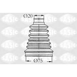 SASIC 2933083 Комплект пылника, приводной вал