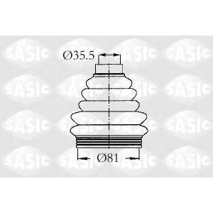 SASIC 2933203 Пыльник шруса