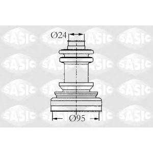 Комплект пылника, приводной вал 2933423 sasic - FIAT DOBLO Cargo (263) фургон/универсал 1.6 D Multijet