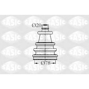 SASIC 2933743 Пыльник привода наружный PSA/Renault 86x24 2 ровка