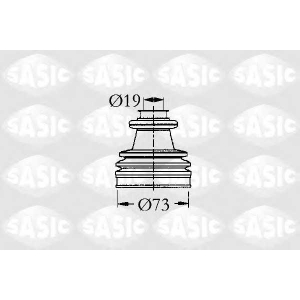 SASIC 2933813 Пыльник рулевой рейки