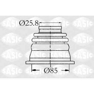 Комплект пылника, приводной вал 4003408 sasic - RENAULT SUPER 5 (B/C40_) Наклонная задняя часть 1.1 (B/C/401, B/C40H)