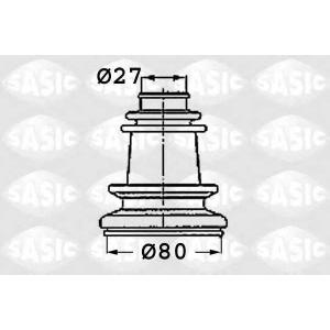 SASIC 4003409 Пыльник рулевой рейки