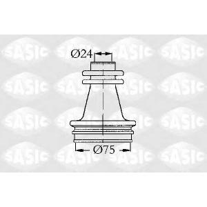 SASIC 4003416 Пыльник привода внутренний (не тришип) R21/25/Espace/Trafic 75x24