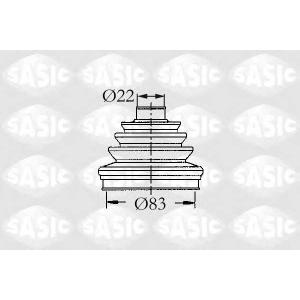 SASIC 4003437 Пыльник привода наружный R25/Espace/Trafic 2.0/2.2/2.1D 83x22 1 ровок