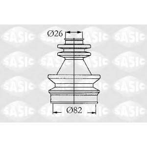 SASIC 4003439 Пыльник ШРУС