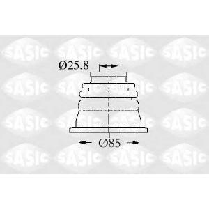 SASIC 4003458 Комплект пылника, приводной вал
