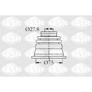 Комплект пылника, приводной вал 4003465 sasic -
