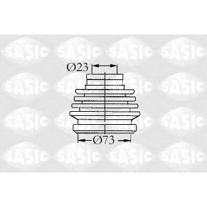 SASIC 9004631 Комплект пылника, приводной вал