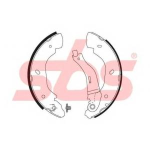 SBS 1849.2725676 Тормозные колодки барабанные, к-кт.